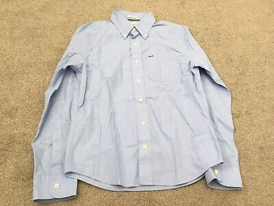 Abercrombie & Fitch Mens Light Blue Long Sleeve Muscle Fit Shirt Size Small