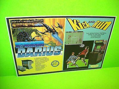Taito DARIUS Kick And Run Original NOS 1987 Video Arcade Game Flyer Electrocoin