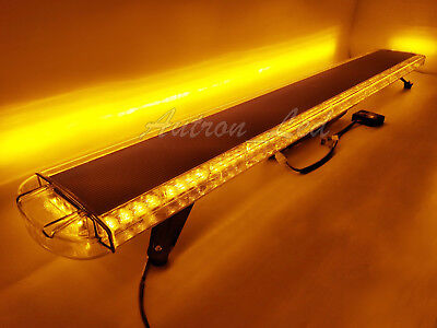 63 Amber 120 Led Security Warn Emergency Beacon Flash Roof Tow Truck Light Bar