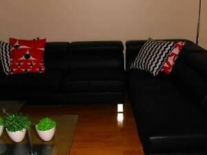 CONDRAD corner Chaise Lounge (leather like) Minchinbury Blacktown Area Preview