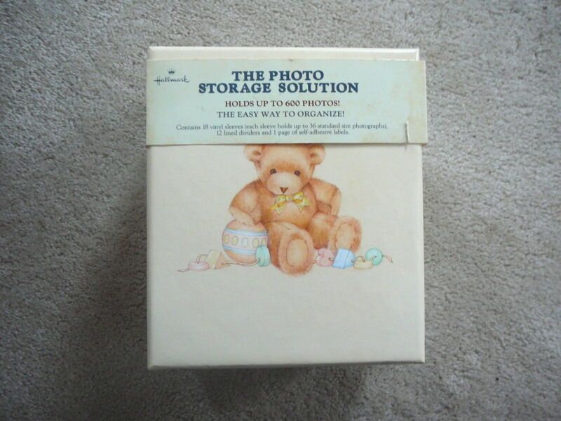 HALLMARK CARDS Vintage 1984 BABY PHOTOS STORAGE BOX - TEDDY BEARS - NOS