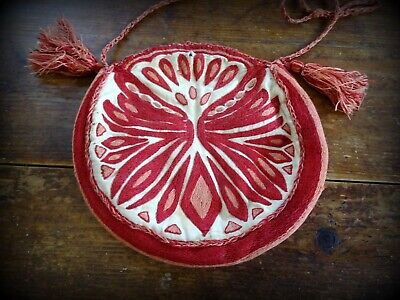 A Beautiful Vintage Etnic Boho Hand Embroidered Bag From Greece