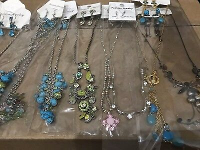 USA 40 PC (20 sets) WHOLESALE LOT COSTUME / FASHION JEWELRY NECKLACE EARRINGS #1