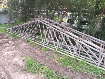Steel trusses and posts for shed Launching Place Yarra Ranges Preview