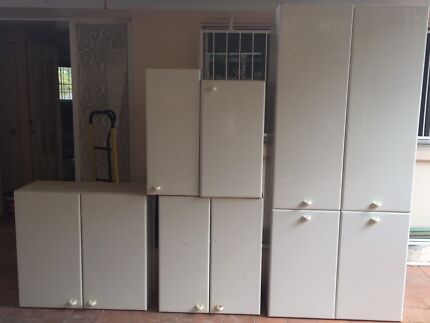 Kitchen cabinets plus oven