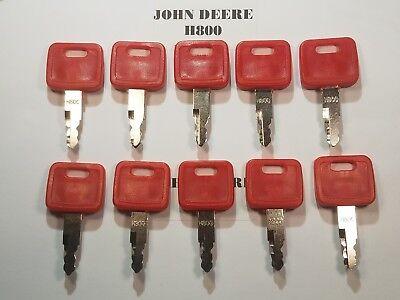 10 John Deere Keys Excavator Dozer Fits Hitachi. New Holland Fiat M800