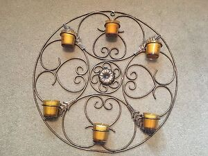 "Candle holder metal "" never lit"""