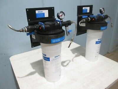 Ecolab T014s Lot Of 2 H.d. Commercial Ice Machine Water Filtration System