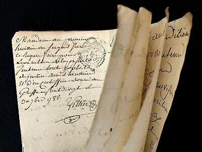 1788 OLD HISTORICAL DOCUMENT 8 pages