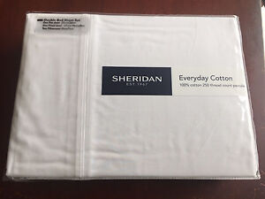 Brand New 2x Sheridan Everyday Cotton sheet sets WHITE Bateman Melville Area Preview