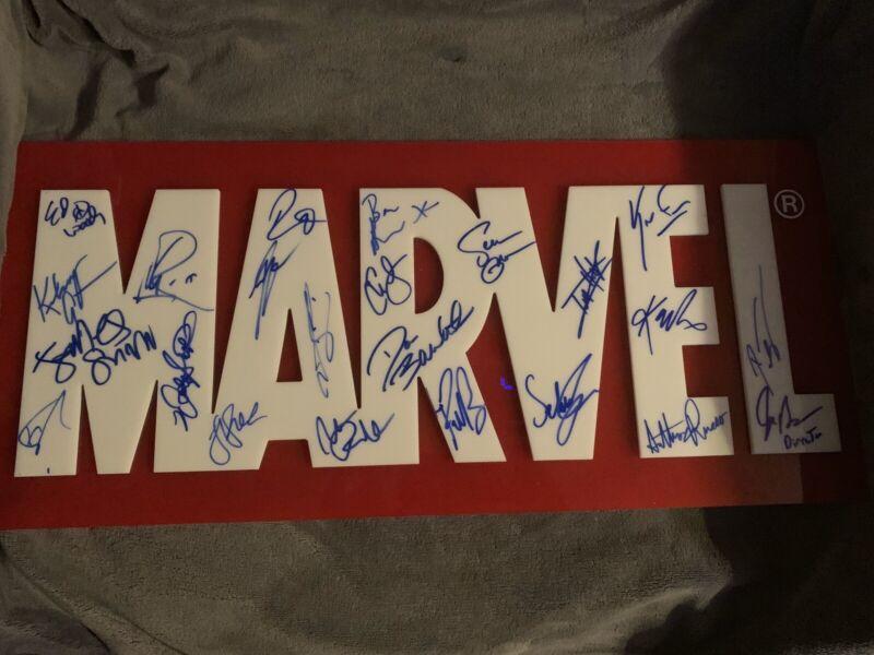 Custom Signed Marvel Sign Cast Piece RARE RARE RARE NAMES!!!