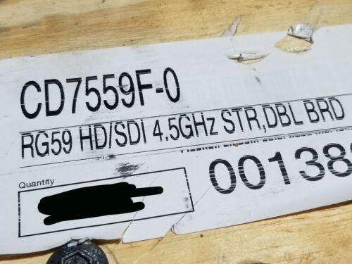 Clark Wire & Cable CD7559F Ultra Flex HD/SDI RG59 Coaxial 4.5GHz Black /50ft
