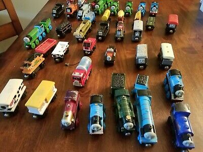 Lot of 42 THOMAS The Tank Engine Wooden Trains Nice!