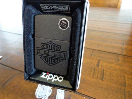 HARLEY DAVIDSON BAR & SHIELD BLACK MATTE ZIPPO LIGHTER MINT IN BOX