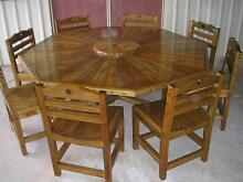HEXAGANAL EIGHT SEATER HAND MADE TABLE AND CHAIRS Glenwood Fraser Coast Preview