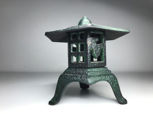 Small 6 Inch Cast iron Pagoda Roof Lantern - Three Piece Lantern - Very Nice!