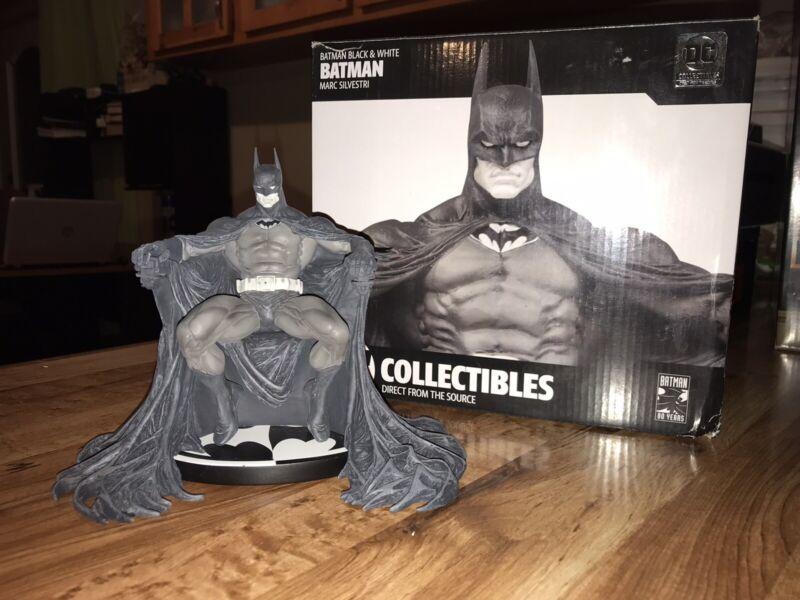 DC Collectibles 6 inch Batman Statue - Black&White Marc Silvestri