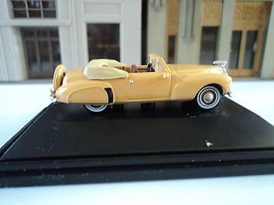 Oxford  1941   Lincoln  Continental  Convertible   Rockingham  Tan  1/87  HO car New Lincoln Continental