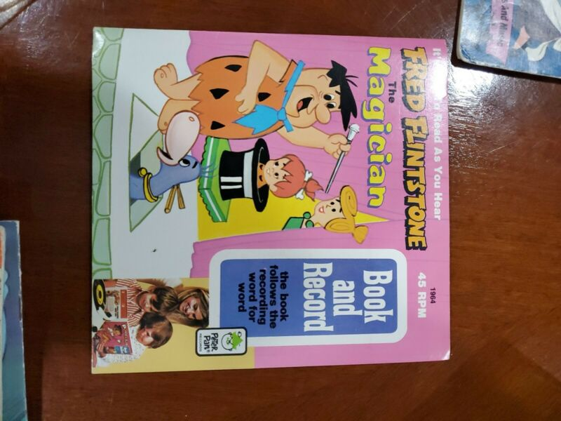 Fred Flinstone The Magician Book And Record