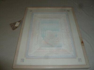 FRAMED DESERT WINDOW WESTLEY WESS SMITH CAST PAPER SCULPTURE ORIGINAL SIGNED ART