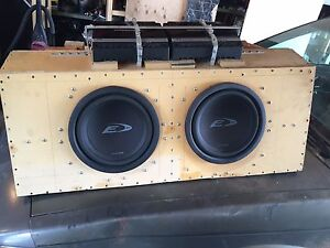 """Alpine 10"""" subs, Rockford amps, Infinty 6X9's & 4X6's"""