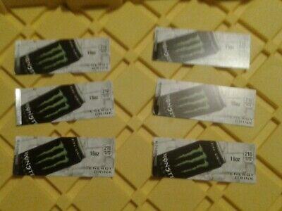 6pack Royal Vendors Vendo Soda Vending Machine 16oz Monster Can Vend Label