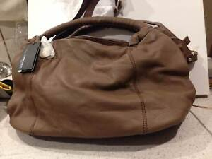 Maria Carla Tan Leather Handbag Brand New Tags Attached
