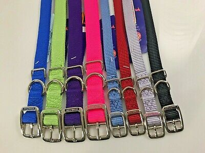 New Hamilton Nylon Collar or Leash for M to L Dogs Choose Color and Size Hamilton Nylon Adjustable Dog Collar