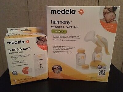 Medela Harmony Best-Selling Manual Breast Pump Single Pumping 67186 w/ 50