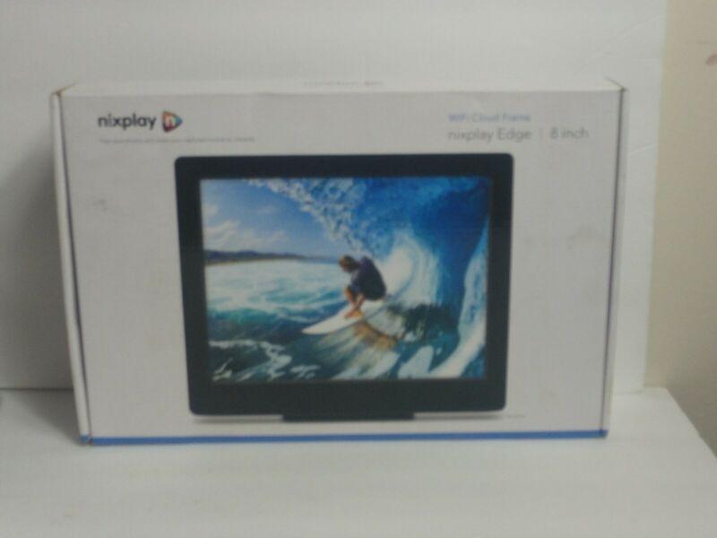 Nixplay Edge 8-Inch Wi-Fi Cloud Digital Photo Frame with HD Display New & SEALED