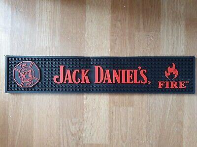 NEW Official Jack Daniels Tennessee Fire Red & Black Rubber Bar Runner Mat