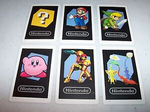 Nintendo 3DS Lot of 6 AR Cards