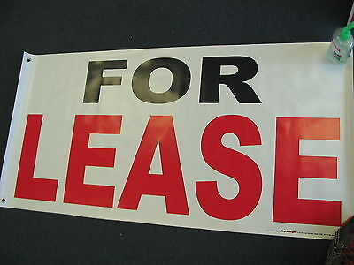 For Lease Banner 2x4 Sign Store Real Estate Space Apartment Building Commercial