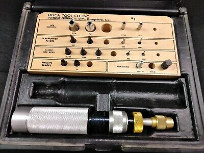 Utica Ts-100 Torque Driver With Some Bits Case