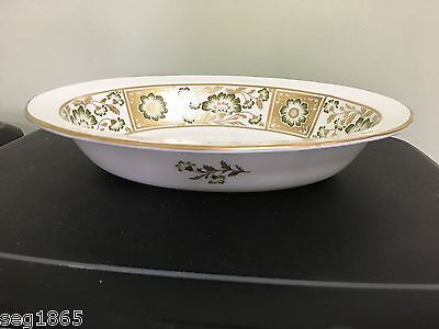 ROYAL CROWN DERBY GREEN PANEL OPEN OVAL VEGETABLE SERVING DISH /BOWL 1ST QUALITY Green Open Vegetable Bowl