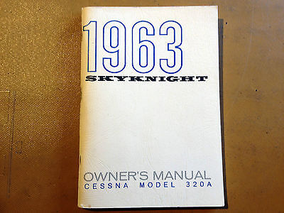 1963 Cessna 320A SkyKnight Owner's manual