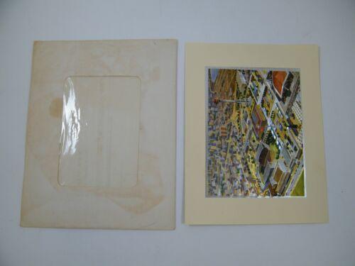 """1962 SEATTLE WORLDS FAIR FEPEG FOIL PRINT OVER - ALL SCENE 8 1/2"""" X 6 1/2"""""""