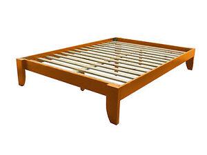 King Platform Bed Wood | eBay