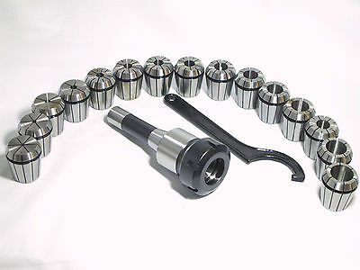 ER40 Collet Chuck R8 Shank With 15 PC collets Set for sale  Shipping to Canada