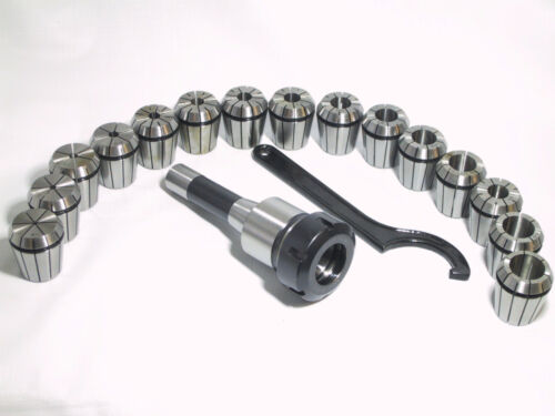 ER40 Collet Chuck R8 Shank With 15 PC collets Set