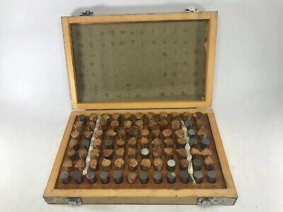 Enco Minus M 5 .751-.832 Plus Pin Plug Gage Guage Set W Case Complete