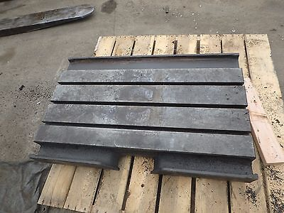 39.25 X 25.25 X 7 Steel Welding T-slotted Table Cast Iron Layout Plate3 Slot