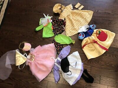 Lot Of Halloween 5 Costumes Fits American Girl Doll Halloween Costumes Snowwhite - Girl Doll Halloween Costumes