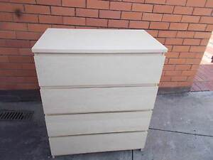 Tallboy Chest of Drawers 4 large slide out drawers Burwood East Whitehorse Area Preview