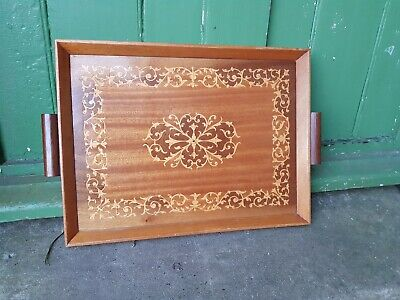 Vintage Sorrento Drinks Tray, Marquetry, Inlaid Tray