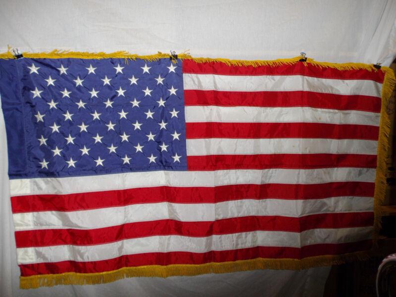 flag236  US 50 Star Flag Regimental Issue original Vietnam - now nylon 62 x 36