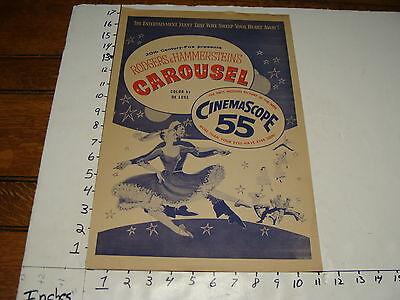 Vintage Press Kit--1956 Roggers & Hammerstein's CAROUSEL