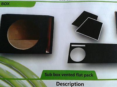 KIT PRE ASSEMBLATO BOX per Subwoofer 30 cm in cassa REFLEX sub auto incassato