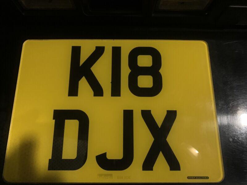 Reg+Plate+K18+DJX