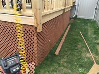 We can design, build,repair your deck & patio.Liscenced Insured
